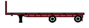Flatbed Tandem Spread Axle