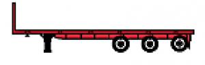 Flatbed Tridem Axle